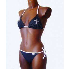 Venice Beach Bikini Modell Cruz schwarz